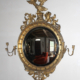 Period Federal gilt framed convex mirror with eagle, estimated at $3,000-$5,000