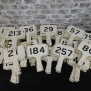 The surplus auction supplies Bodnar's will sell includes its remaining stock of 205 wooden auction paddles, collectively estimated at $300-$500.