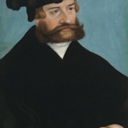 Lucas Cranach the Younger, German (1515–1586), 'Portrait of a Man,' 1538 oil on wood panel (beech), 19 3/4 x 14 1/16 inches (50.2 x 35.7 cm). Purchase: William Rockhill Nelson Trust.