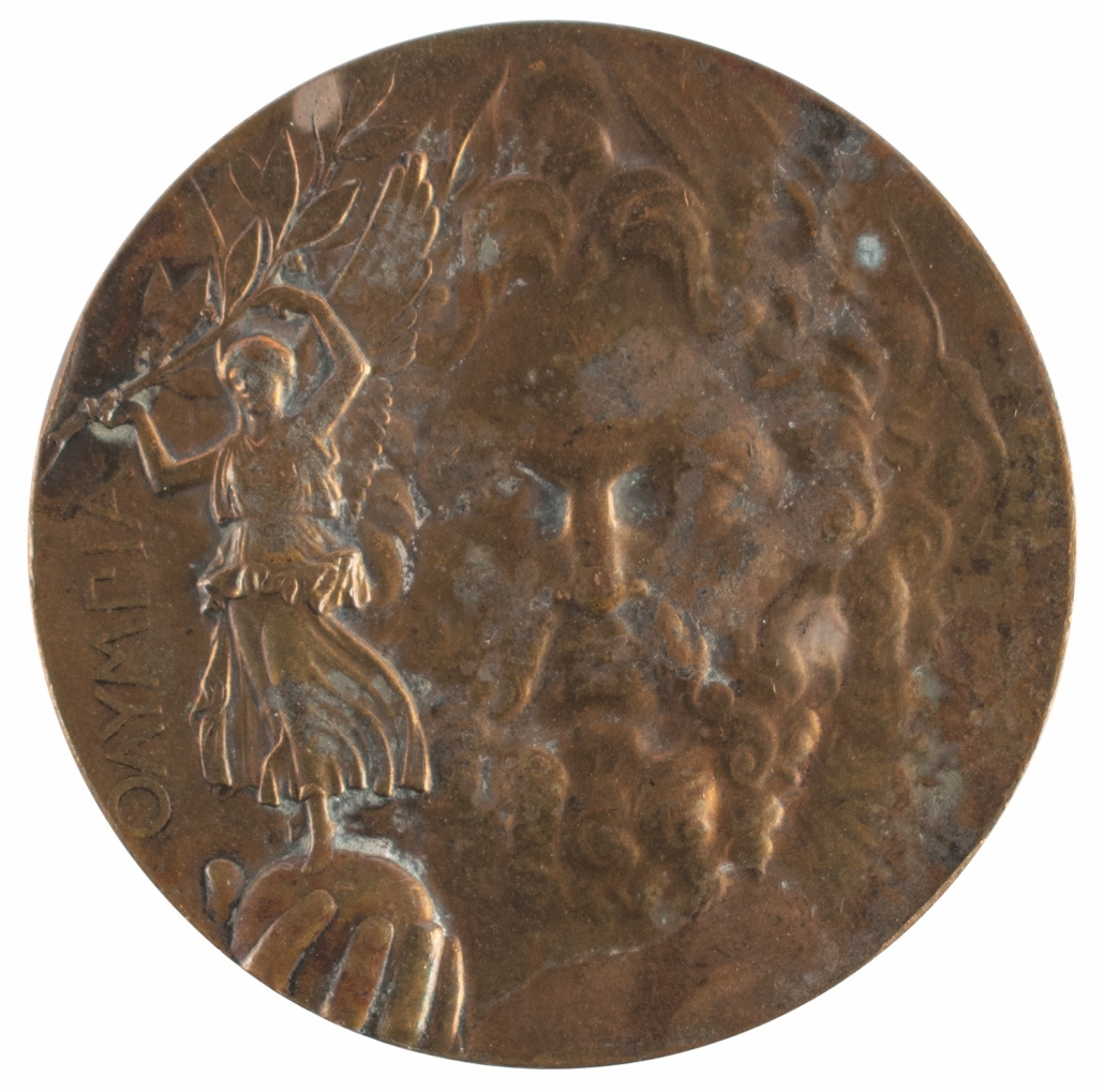Athens 1896 Olympic bronze winner's medal, estimated at $40,000-$50,000