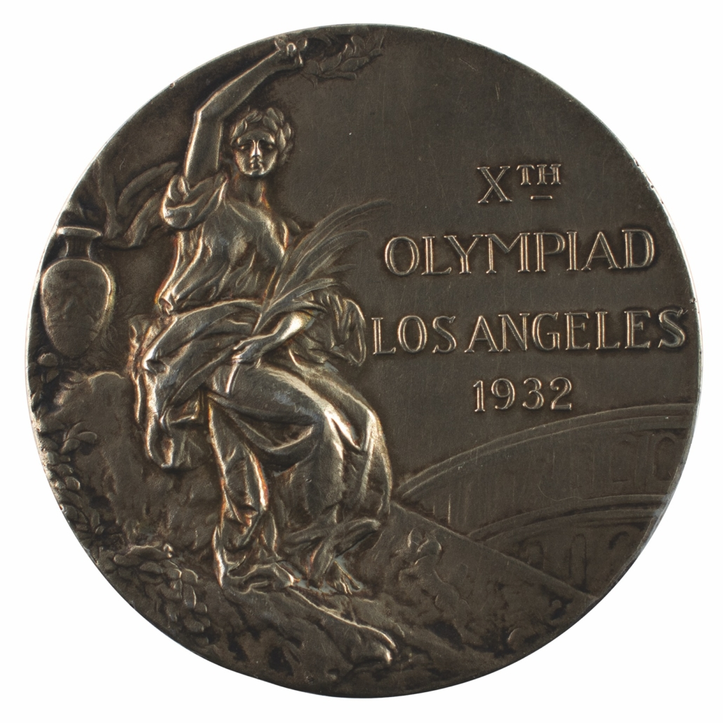 Los Angeles 1932 Summer Olympics gold medal, earned by Swedish wrestler Ivar Johansson, which sold for $45,375