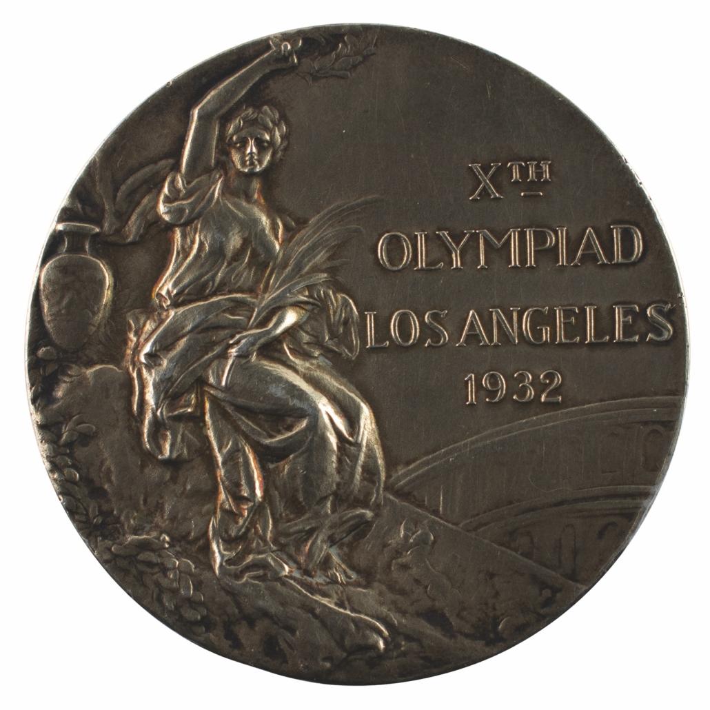 Los Angeles 1932 Summer Olympics gold winner's medal, won by Ivar Johansson, estimated at $30,000-$40,000