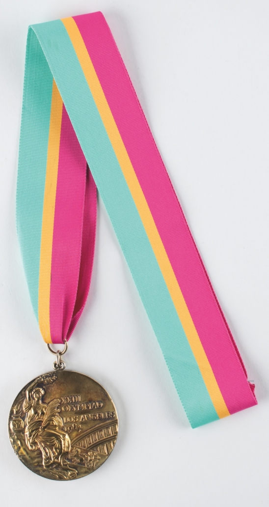 Los Angeles 1984 Summer Olympics gold medal, which realized $83,188