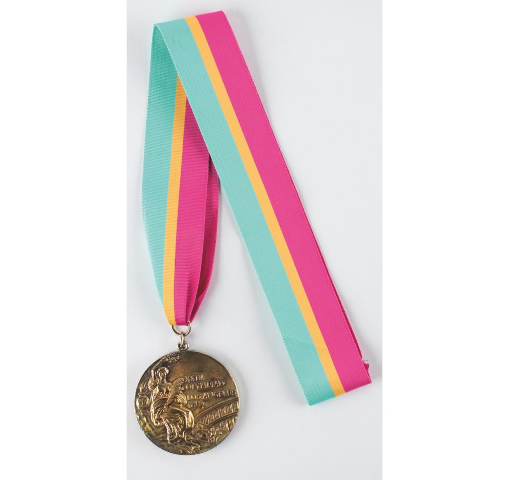 Los Angeles 1984 Summer Olympics sample gold winner's medal, estimated at $1,000-$1,500