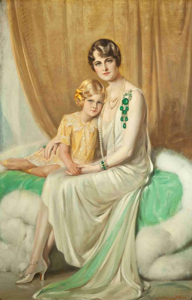 Giulio de Blaas, 'Portrait of Mrs. Hutton and daughter Nedenia Hutton,' 1929 oil on canvas. Courtesy of Hillwood Estate, Museum & Gardens