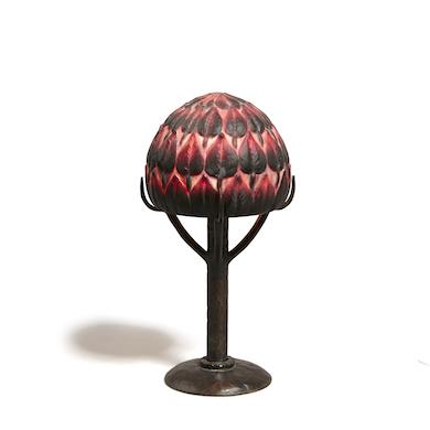 Argy-Rousseau lamp lit up prices realized at Bonhams' July 13 auction