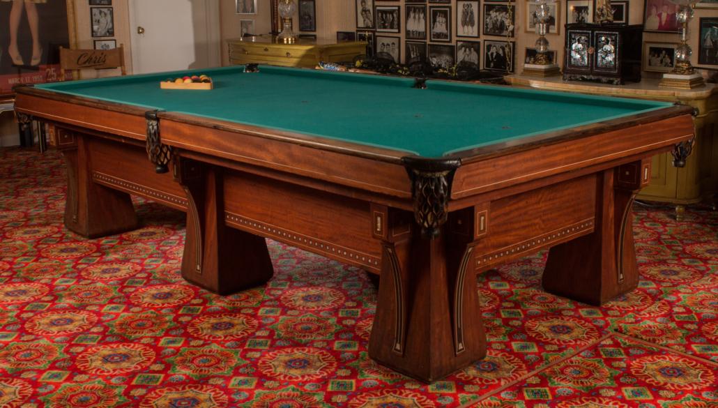 Brunswick pool table, circa 1923, est. $4,000-$6,000