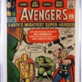 Marvel Comics Avengers #1 (Sept. 1963), graded CGC 8.0, which sold for $23,125