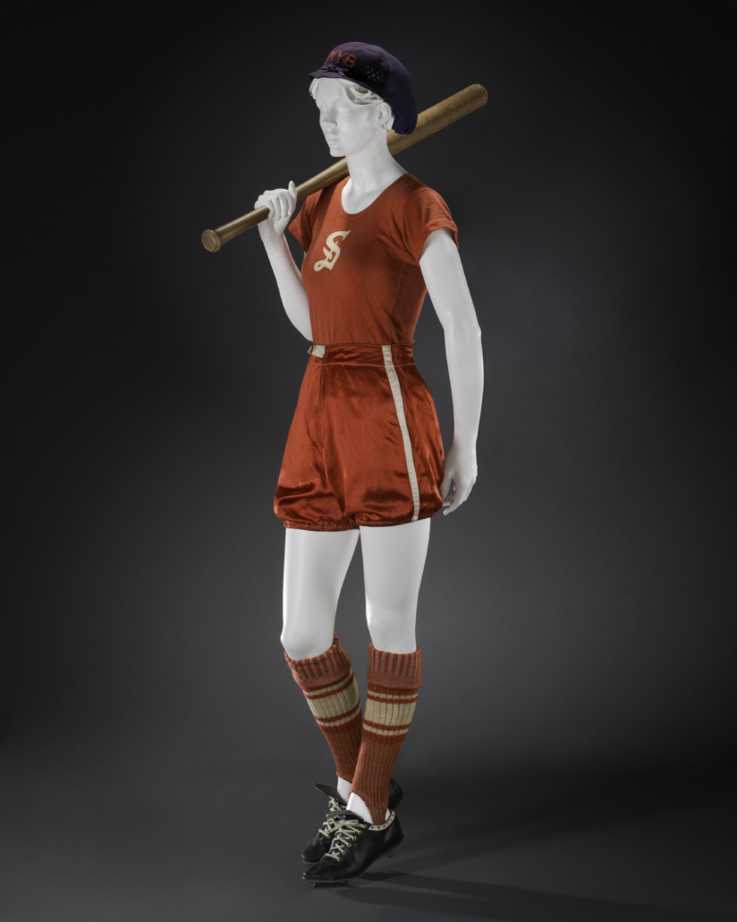 Baseball ensemble with Spalding cleats, 1930s. Photo: Brian Davis. © FIDM Museum. Courtesy American Federation of Arts