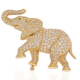 A Cartier 18K yellow gold elephant brooch with pave diamonds realized $24,550 plus the buyer's premium in 2021.