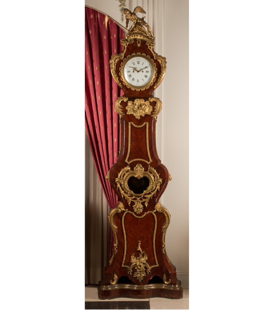 Charles Frodsham Louis XV-style tall case clock, est. $5,000-$7,000