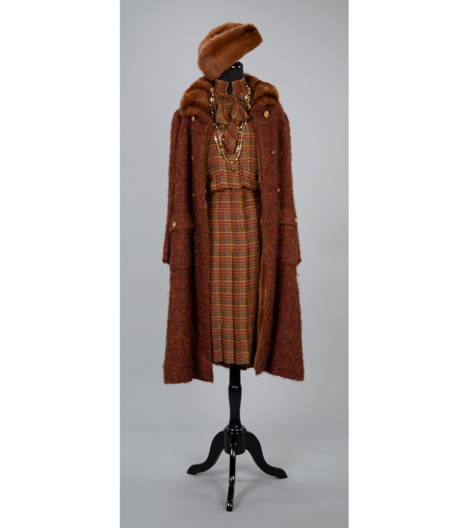 Boucle wool mink-lined coat and Coco Chanel ensemble with accessories, est. $2,000-$3,000