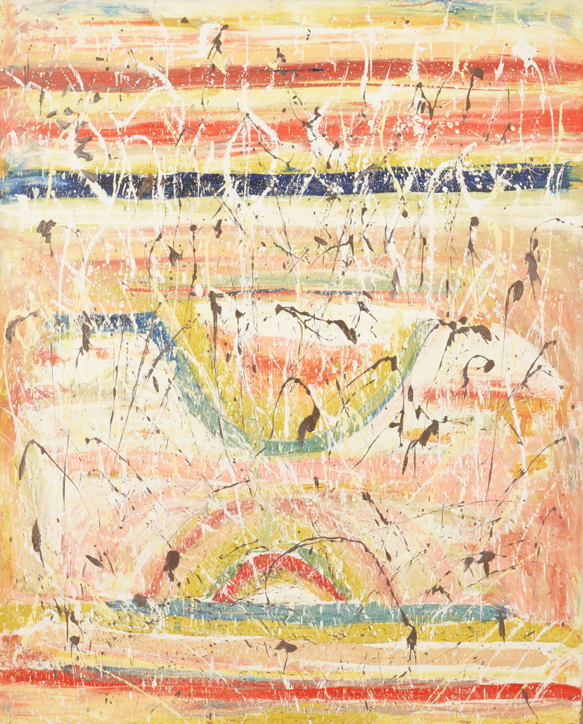 Beauford Delaney abstract painting, estimated at $60,000-$70,000