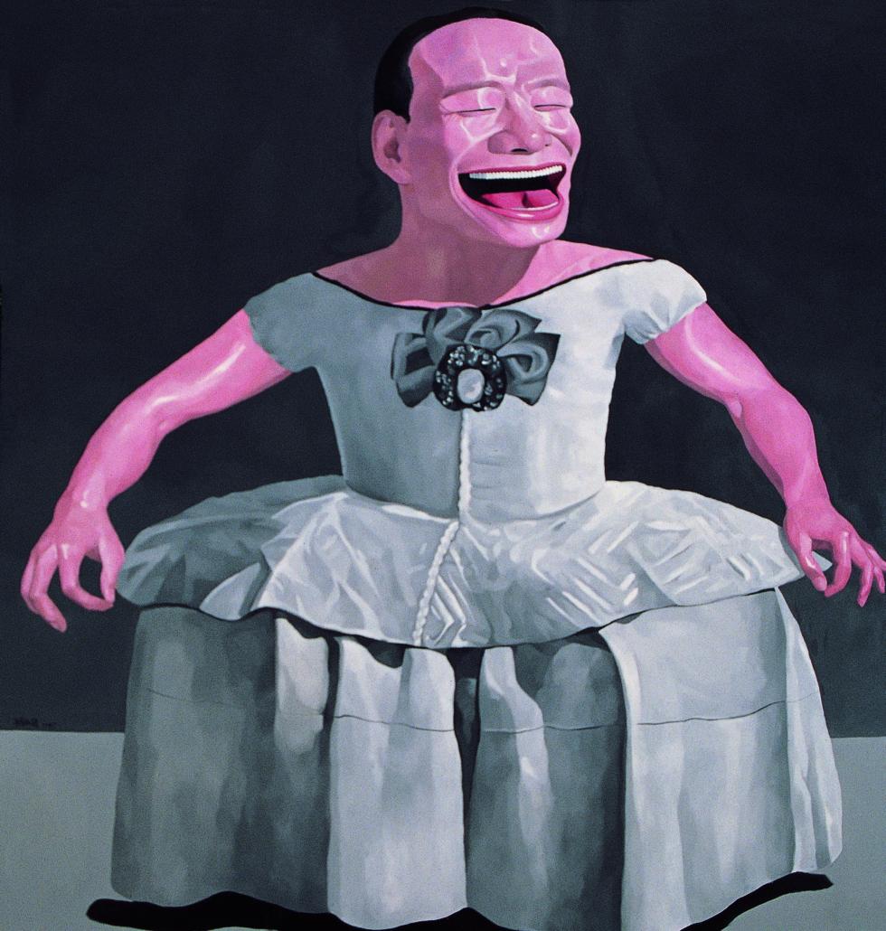 Yue Minjun, 'Infanta,' 1997, Yuz Foundation, © Yue Minjin, photo courtesy Pace Gallery.