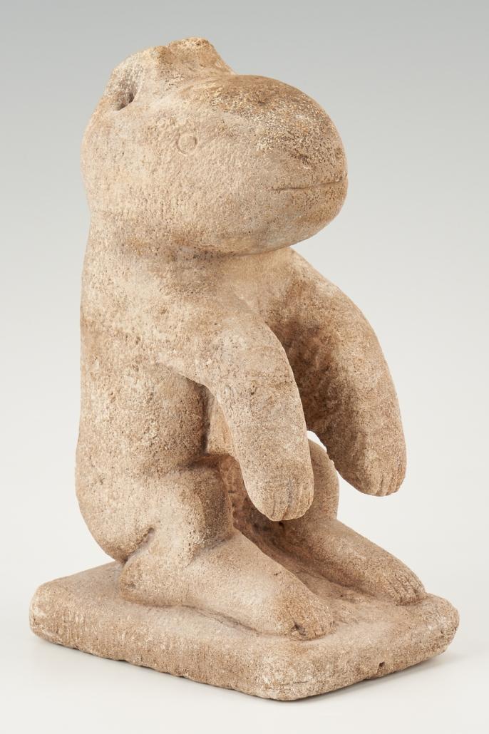 William Edmondson Critter sculpture, estimated at $30,000-$35,000