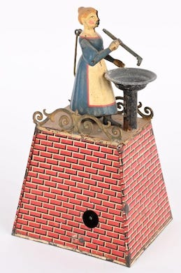 European antique toys ruled the playing field at Milestone's June 26 auction
