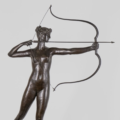 'Diana,' a circa-1895 bronze sculpture by Augustus Saint-Gaudens that sold for $518,400 on Jan. 23, 2021 at Keno Auctions in New York.
