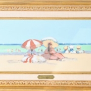 Beach scene by Frederick McDuff, which sold for $3,700