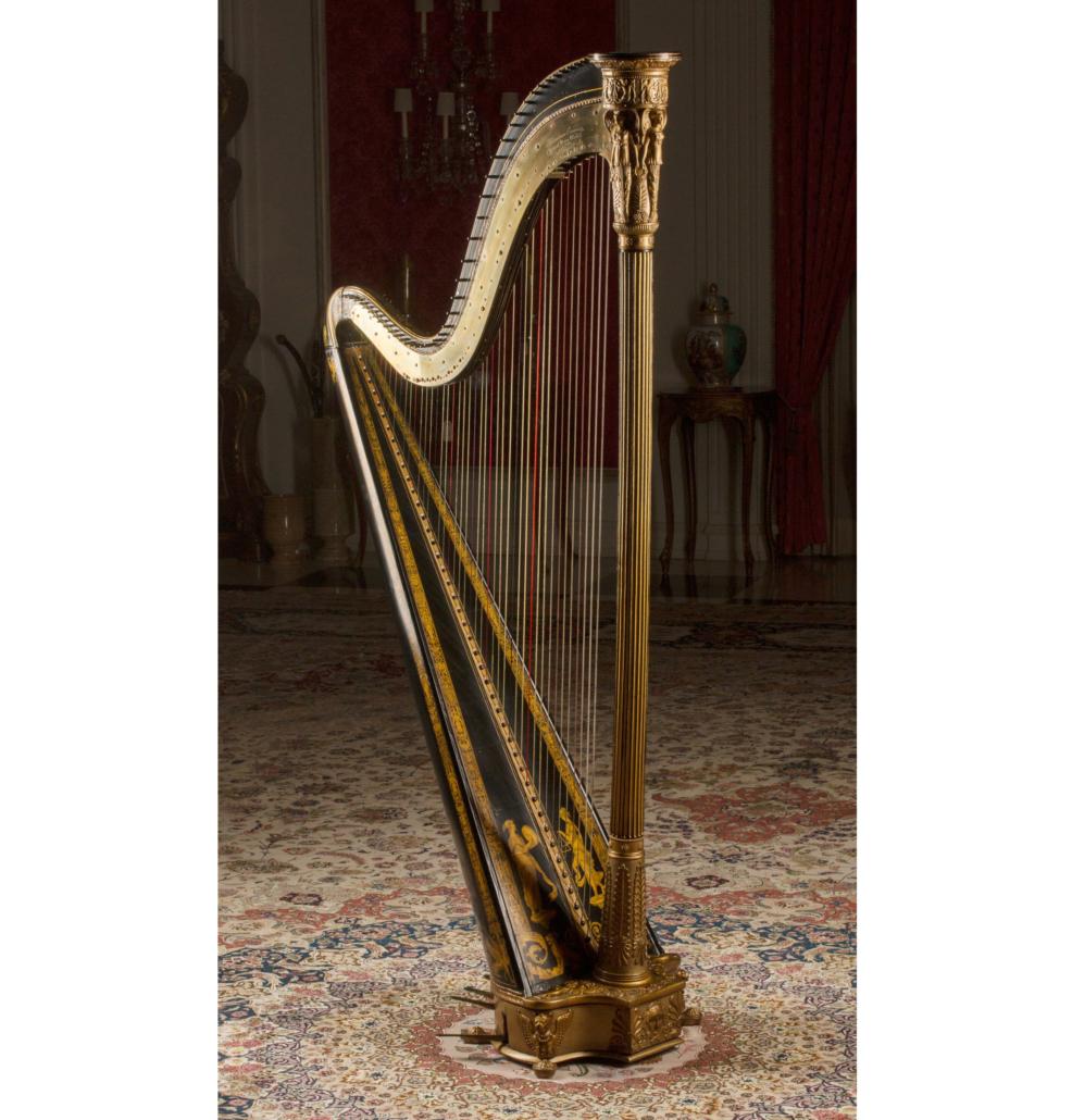 Erard floor harp, 19th century, est. $3,000-$5,000
