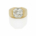 Gold and diamond solitaire ring formerly in the collection of Sammy Davis Jr., which realized $69,063. Image courtesy of Bonhams