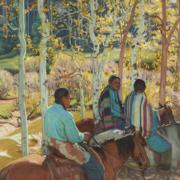Ernest Martin Hemmings, 'Indian Horsemen,' estimated at $600,000-$800,000. Image courtesy of Bonhams