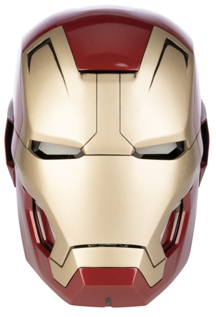Mark 42 helmet worn by Robert Downey Jr. in 'Iron Man 3,' which sold for $115,625