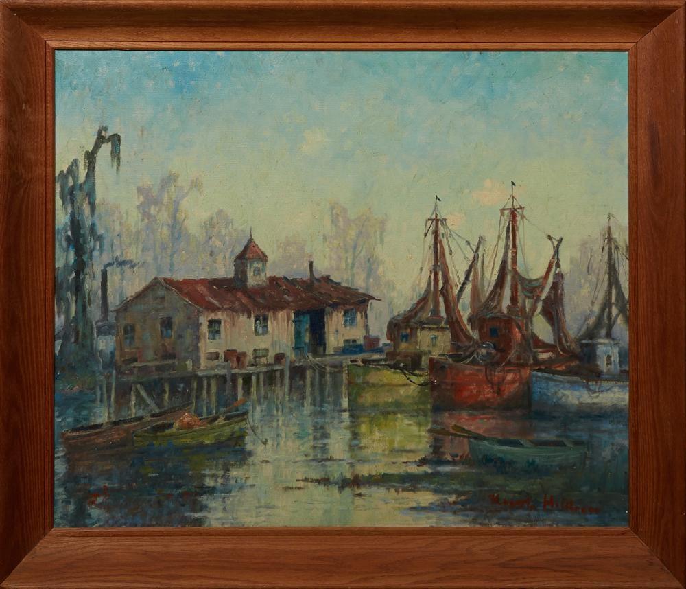 Knute Heldner, 'Shrimp Boats, No. 5,' estimated at $4,000-$6,000