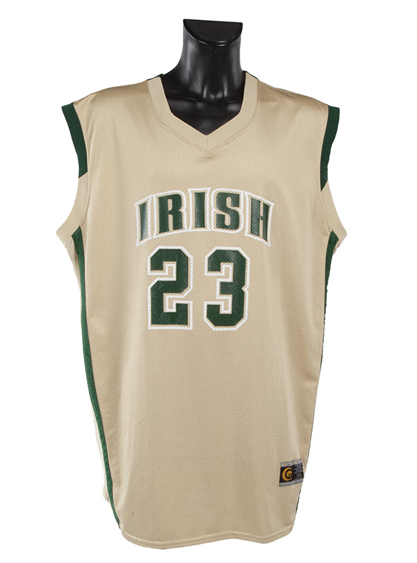 LeBron James's high school basketball jersey sold for $512,000 and a new world auction record.