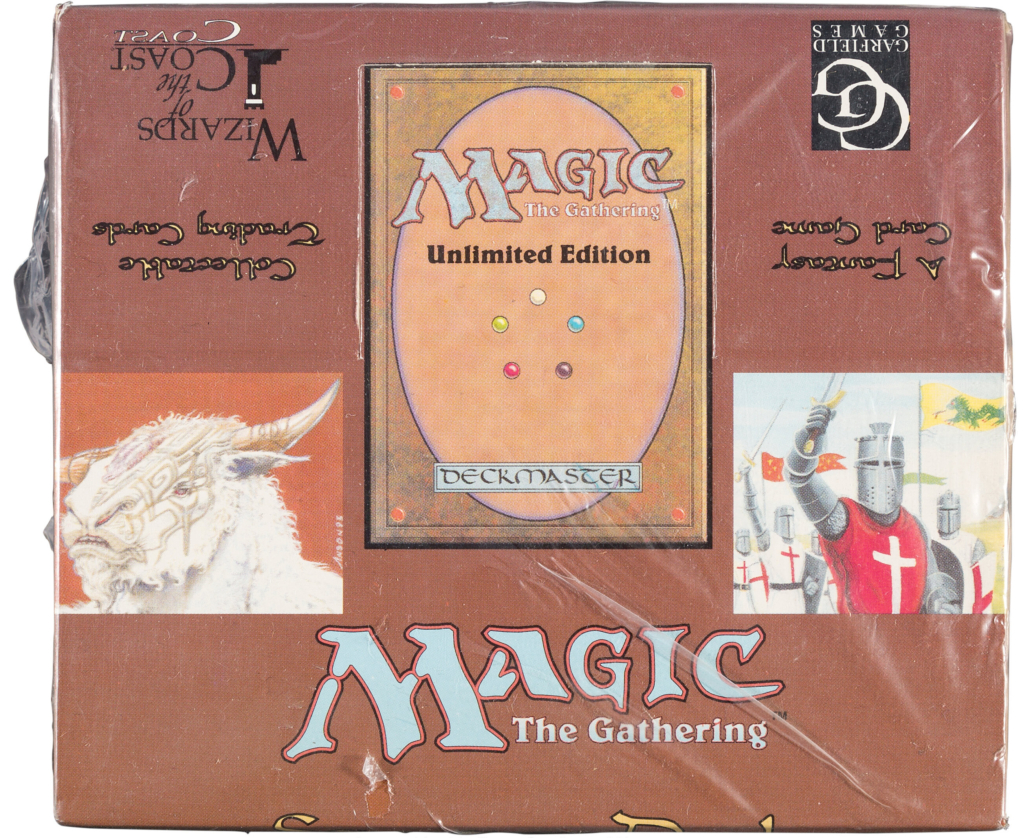 Magic: The Gathering Unlimited Starter Deck sealed box, $150,000