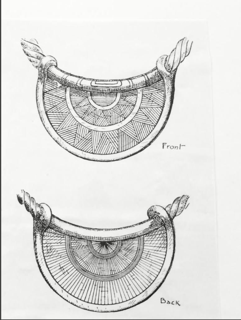 A sketch of the Manchester bulla, which has since been lost. © The Trustees of the British Museum