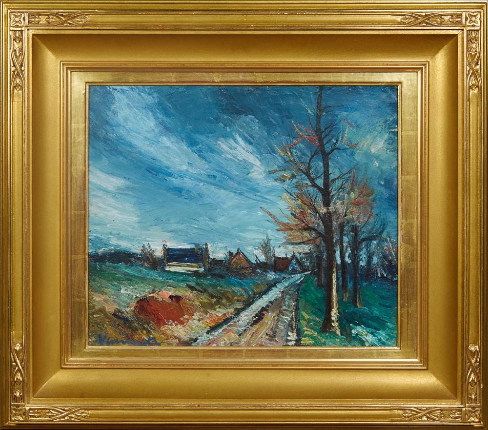 Maurice de Vlaminck, 'Country Road,' estimated at $30,000-$50,000