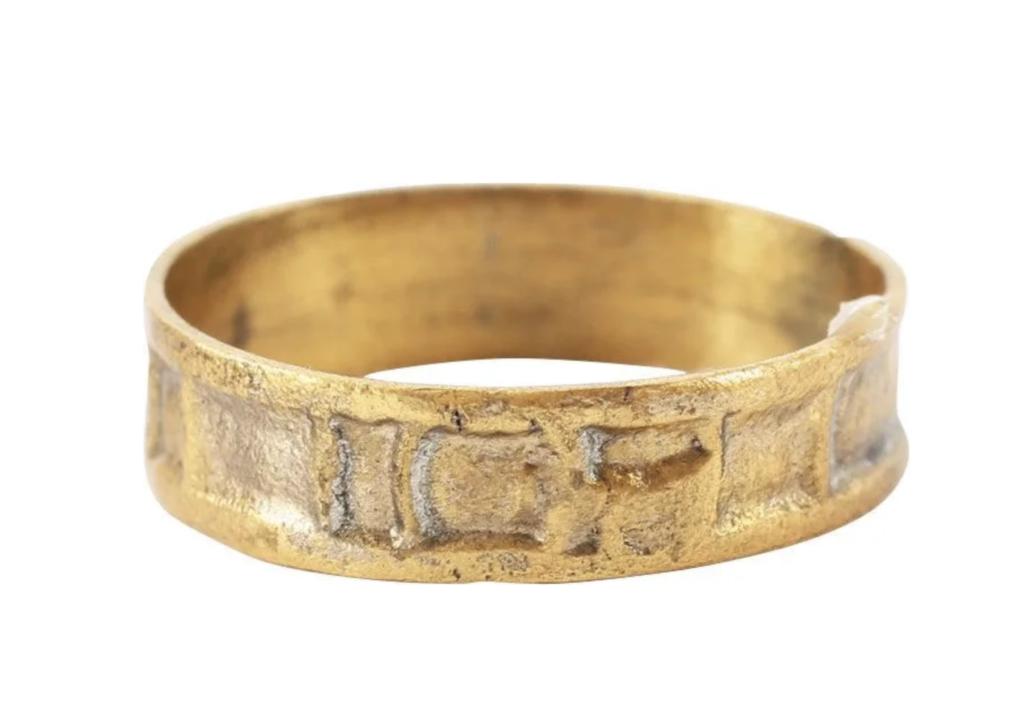 """Gold medieval """"sorcerer's ring,"""" estimated at $250-$300"""