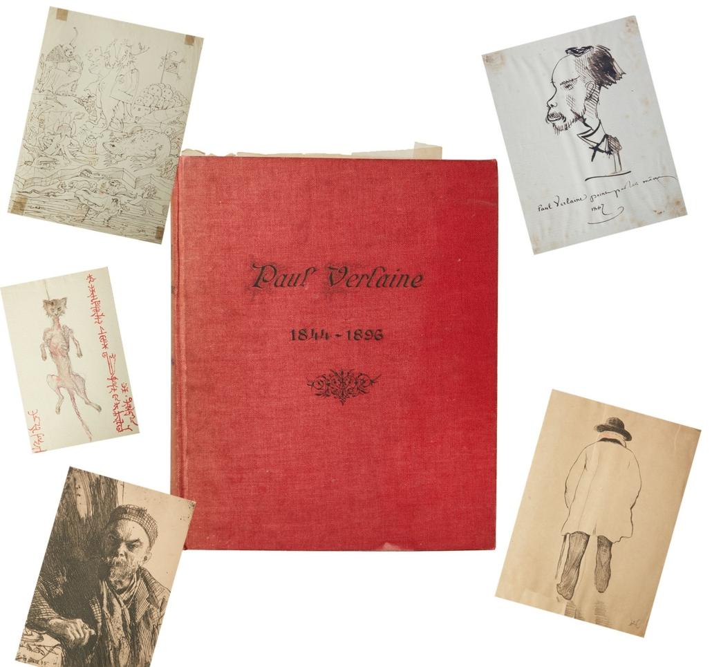 Unique scrapbook of works by Paul Verlaine, estimated at $50,000-$70,000