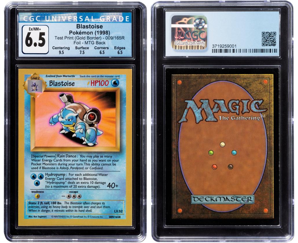 """Pokemon Blastoise #009/165R test print """"Gold Border"""" foil, $216,000"""