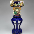 Majolica pedestal stand for jardiniere by the Minton Ceramics Manufactory, 1876, gift of Deborah and Philip English. Courtesy of the Walters Art Museum.
