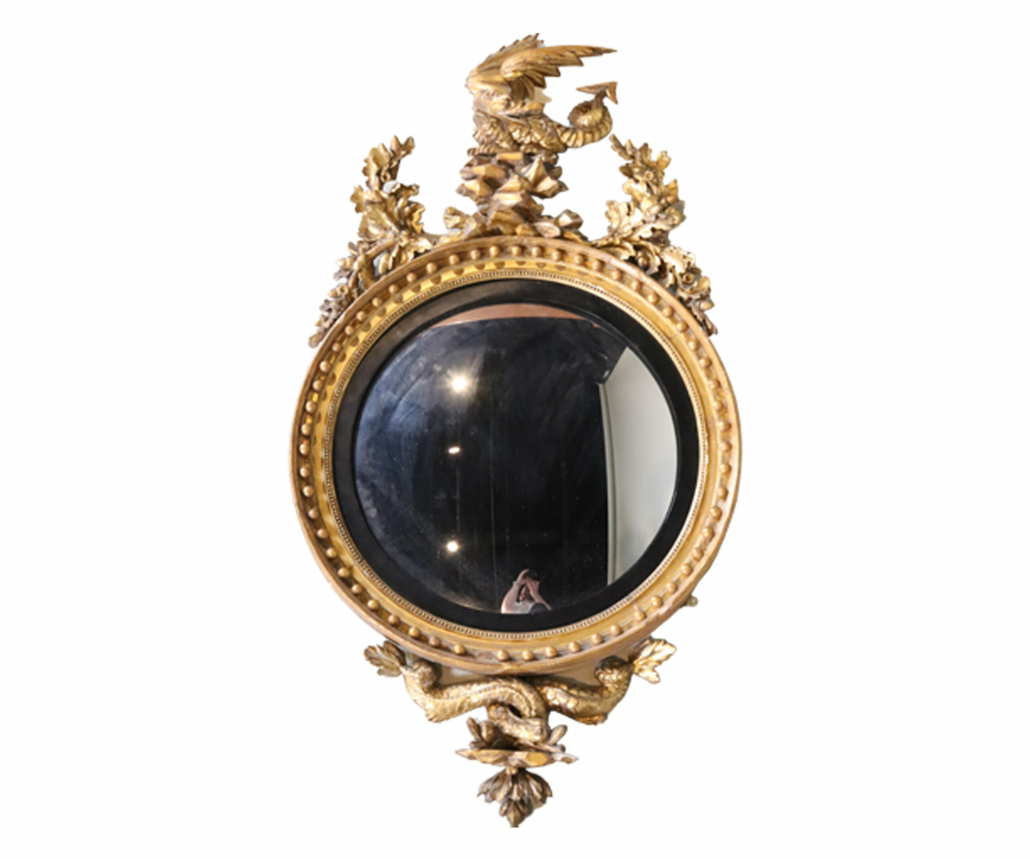 Regency looking glass, English, 19th century, estimated at $2,500-$5,000