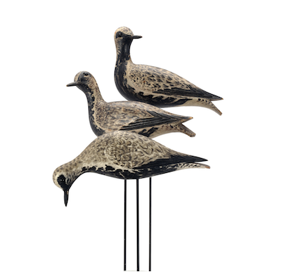 Trio of plovers carved by Crowell claims top roost at Copley auction