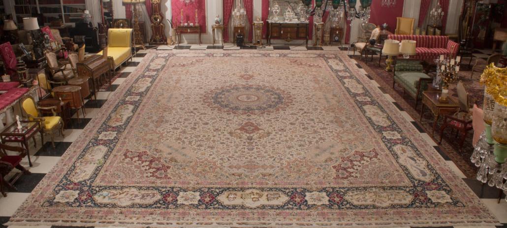 Tabriz rug, est. $40,000-$60,000