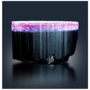 Natural tricolor tourmaline in pink, purple, and black, estimated at $2,500-$3,000