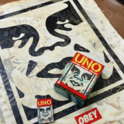 Mattel approached Shepard Fairey to create the fourth entry in the UNO Artiste Series of specialty decks for the classic card game.