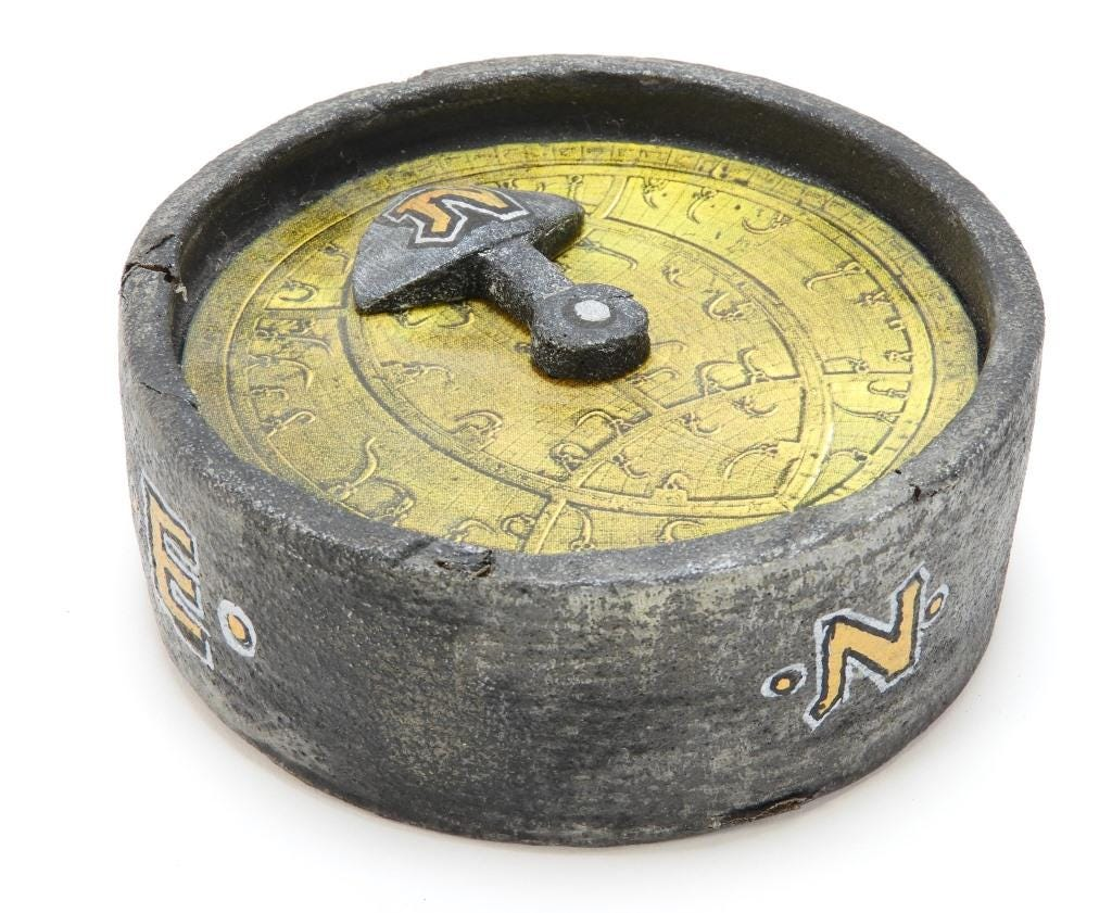 The Upside-Down Compass of Henry Hudson, from Nickelodeon's Legends of the Hidden Temple, estimated at $300-$500