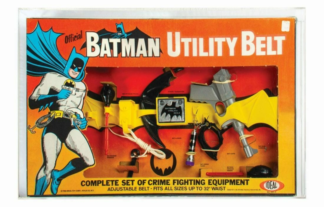 A 1960s Batman Utility Belt realized $14,000 plus the buyer's premium in January 2021 at Van Eaton Galleries.