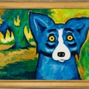 George Rodrigue 'Blue Dog' acrylic on canvas, estimated at $68,000-$72,000