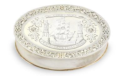 George III Irish provincial silver-gilt freedom box, £7,650. Image courtesy of Bonhams