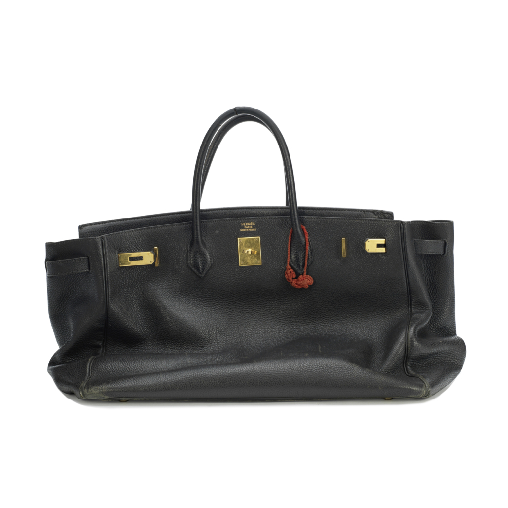 Hermes Birkin handbag, formerly owned by Jane Birkin, which sold for £119,000, or about $162,000. Image courtesy of Bonhams