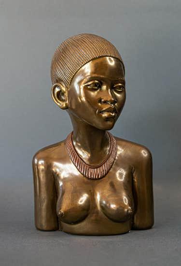 Casper Darare bronze of a Zulu princess, est. $3,400-$15,000