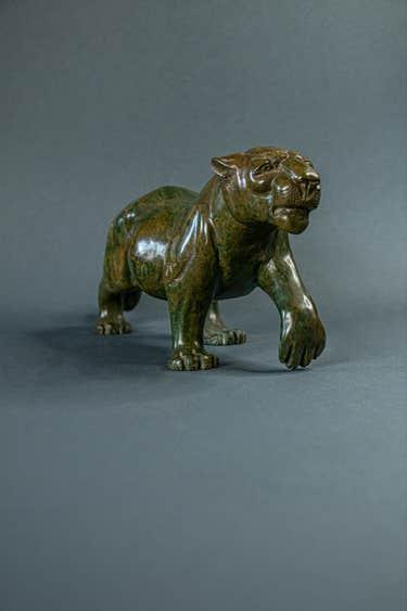 David Sibanda leopard sculpture, est. $2,200-$7,000