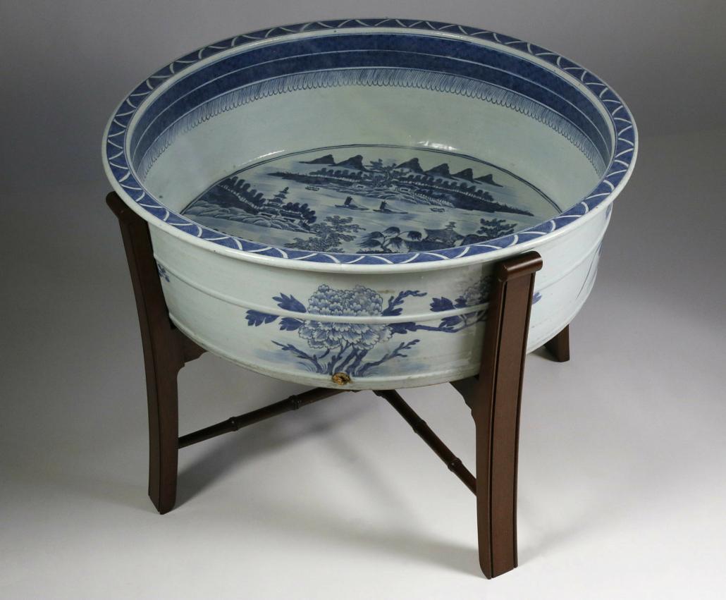Canton fish basin, late 18th century, estimated at $3,000-$5,000