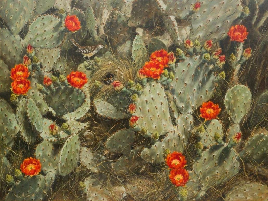 Helen Hunter, 'Blooming Cactus,' estimated at $17,000-$20,000