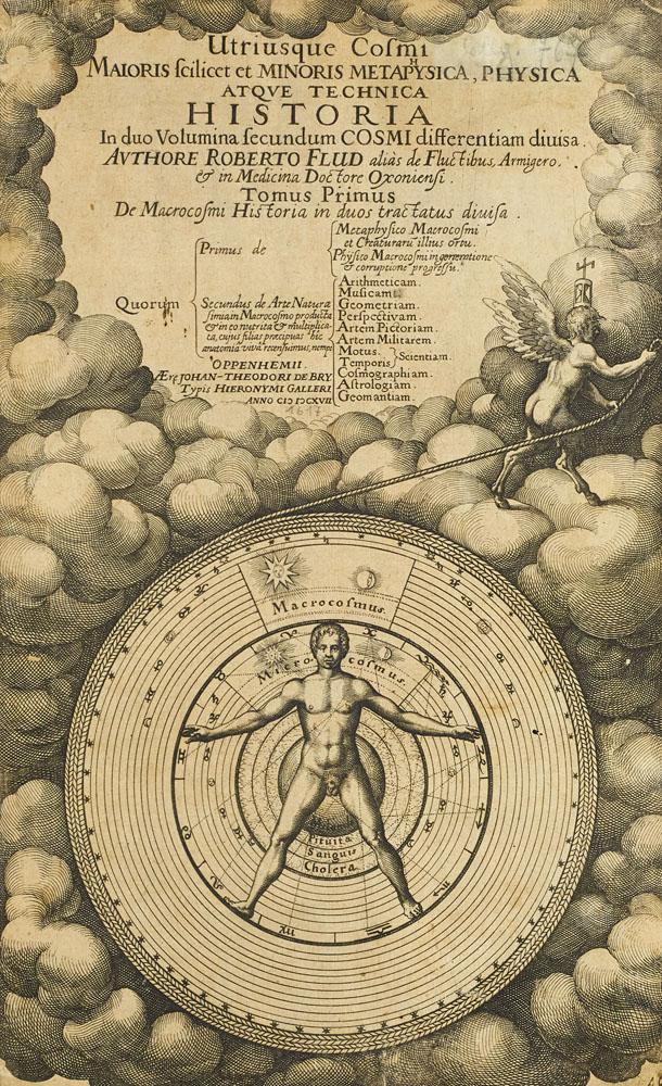 Robert Fludd's 'Utriusque cosmi maioris scilicet et minoris metaphysica atque technica historia,' estimated at €6,000-€12,000